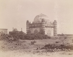 General view from the south-east of the Gol Gumbaz or Tomb of Sultan Muhammad, Bijapur 10031809
